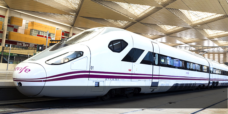 Front view of a high-speed train